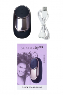 Вибромассажер Satisfyer Layon 2, Dark Desire, силикон, чёрный, 9,4 см