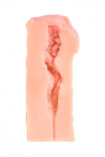 Мастурбатор реалистичный KOKOS ELEGANCE.005, TPR, телесынй, 16 см