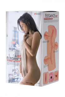 Мастурбатор реалистичный KOKOS ELEGANCE.007, TPR, телесный, 16 см