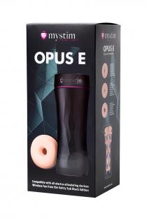 Мастурбатор Mystim Opus E Donut,TPE, телесный, 21,5 см