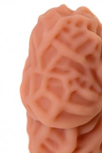 Насадка KOKOS  с дополнительной стимуляцией, реалистичная,TPR, телесный, 15.8 см