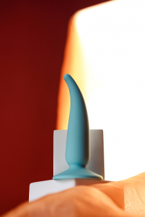 Анальная втулка ToDo by Toyfa Сappy, силикон, мятная, 12,5 см, Ø 2,7 см