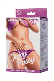 Мастурбатор реалистичный TOYFA Juicy Pussy Crystal Rose, TPE, 14 см