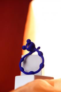 Анальная цепочка ToDo by Toyfa Froggy, силикон, синяя, 27,4 см, Ø 1,4 см