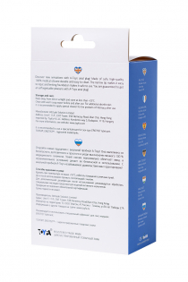 Анальная пробка A-Toys by TOYFA, силикон, синяя, 8,3 см, Ø 4,1 см
