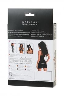 Платье Glossy Naomi из материала Wetlook, черный, S