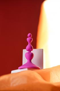Анальная втулка ToDo by Toyfa Loverty, силикон, розовая, 8 см, Ø 2,3 см
