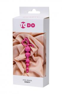 Анальная цепочка ToDo by Toyfa Sweety, силикон, розовая, 18,5 см, Ø 3,1 см