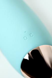 Вибратор с клиторальным стимулятором L'EROINA by TOYFA Crystal, силикон, голубой, 18,3 см