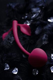 Вагинальный шарик JOS CHERRY, силикон, вишневый, Ø 3,4 см