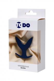 Расширяющая анальная втулка ToDo by Toyfa Bloom, силикон, синяя, 9,5 см, Ø 7 см