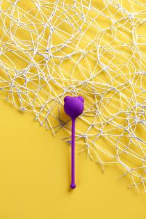 Вагинальный шарик A-Toys by TOYFA, силикон, фиолетовый, Ø 2,7 см