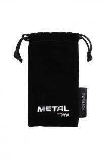Анальный страз Metal by TOYFA, металл, черный, с кристалом цвета рубин 8,2 см, Ø3,4 см, 85 г.