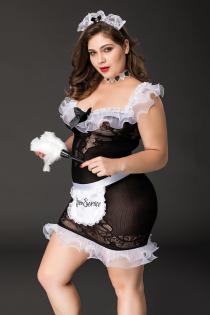 Костюм горничной Candy Girl Fanny 2XL, черно-белый