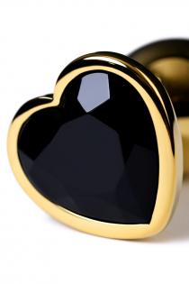 Анальный страз Metal by TOYFA, металл, золотистый, с кристаллом цвета турмалин, 7 см, Ø 2,7 см, 50 г