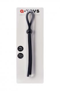 Лассо на пенис A-toys by TOYFA с одной бусиной, силикон, черное, 19,5 см