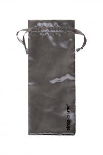 Ремневой нереалистичный страпон на присоске Strap-on-me, XL, силикон, черный, 20 см