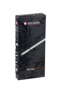 Электростимулятор уретры Mystim Thin Finn, хирургическая сталь, серебристый,25 см