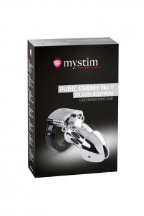 Электростимулятор Mystim Pubic Enemy No 1, хирургическая сталь, серебристый, 8,2 см