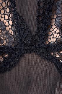 Платье Candy Girl с открытой спиной и стринги, чёрные, XL