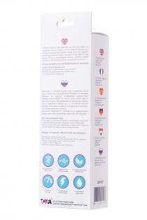Вибратор с клиторальным стимулятором L'EROINA, силикон, розовый, 19 см