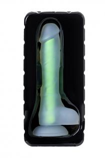 Фаллоимитатор, светящийся в темноте, Beyond by Toyfa, Wade Glow, силикон, прозрачно-зеленый, 14,5 см