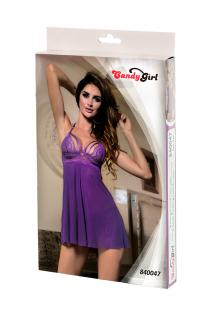 Комбинация и стринги Candy Girl Nevaeh, фиолетовые, OS
