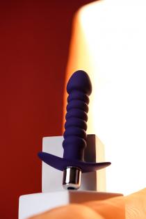 Анальный вибратор ToDo by Toyfa Condal, влагостойкий, силикон, фиолетовый, 14 см, Ø 2,9 см