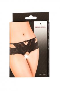 Эротические трусики Erolanta Lingerie Collection кружевные, черные (46-48)