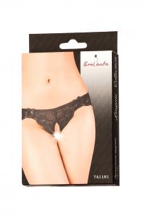 Эротические трусики Erolanta Lingerie Collection кружевные, черные (42-44)