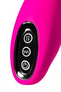 Вибратор со стимулирующим шариком JOS BEADSY, силикон, розовый, 21 см