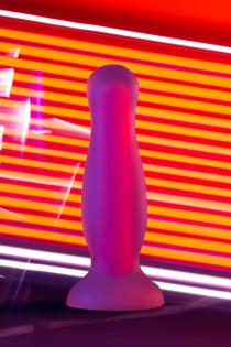 Анальная втулка светящаяся в темноте Beyond by Toyfa Cain Glow, водонепроницаемая, силикон, прозрачная, 10,5 см