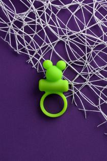 Виброкольцо на пенис A-Toys by TOYFA, силикон, зеленое, Ø 3,1 см