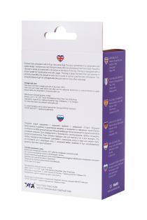 Анальная пробка с вибрацией A-Toys by TOYFA размера L, влагостойкая, силикон, фиолетовая, 14 см, Ø 3,4 см