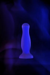 Анальная втулка светящаяся в темноте Beyond by Toyfa Kyle Glow, водонепроницаемая, силикон, прозрачная, 10,5 см