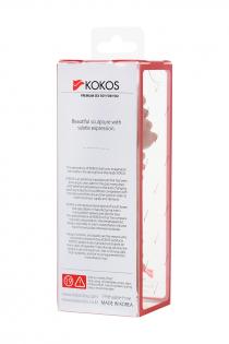Насадка KOKOS  с дополнительной стимуляцией, реалистичная,TPR, телесный, 14.7 см