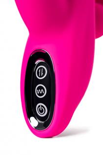 Тройной вибростимулятор JOS SPANKY, силикон, розовый, 21 см