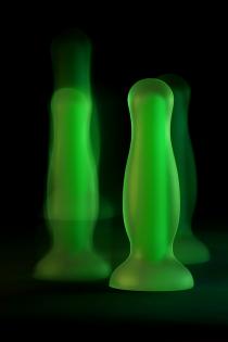Анальная втулка светящаяся в темноте Beyond by Toyfa Mortimer Glow, водонепроницаемая, силикон, прозрачная, 12,5 см