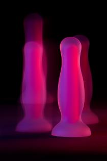 Анальная втулка светящаяся в темноте Beyond by Toyfa John Glow, водонепроницаемая, силикон, прозрачная, 12,5 см