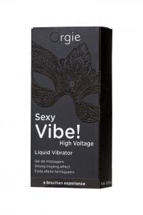 Гель для массажа ORGIE Sexy Vibe High Voltage с усиленным эффектом вибрации, 15 мл