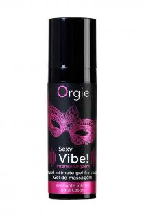 Гель для массажа ORGIE Sexy Vibe Intense Orgasm с покалывающим, разогревающим и охлаждающим эффектом, 15 мл