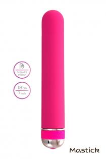 Нереалистичный вибратор A-Toys by TOYFA Mastick, 10 режимов вибрации, ABS пластик, розовый, 18 см