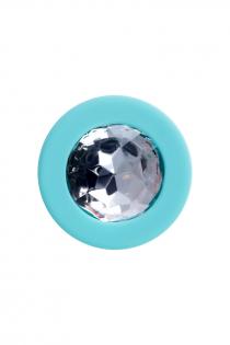 Анальная втулка ToDo by Toyfa Brilliant, водонепроницаемая, силикон, мятная, 8 см, Ø 3 см