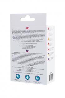 Набор вагинальных шариков L'EROINA by TOYFA Bloom, силикон, фиолетово-розовый, Ø 3,1/3,1/2,6-3 см
