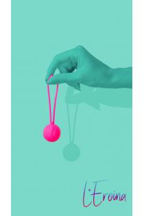 Вагинальный шарик L'EROINA by TOYFA Blush, силикон, розовый, Ø 3,1 см, 65 г