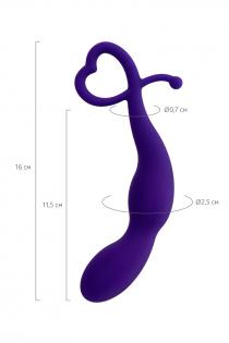 Анальная втулка ToDo by Toyfa Wlap, водонепроницаемая, силикон, фиолетовая, 16 см, Ø 2,5 см