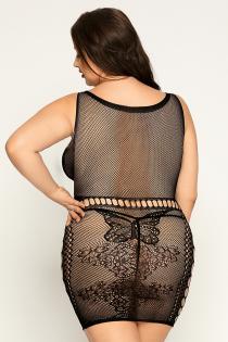 Платье-сетка и стринги Candy Girl Starr черные, 2XL