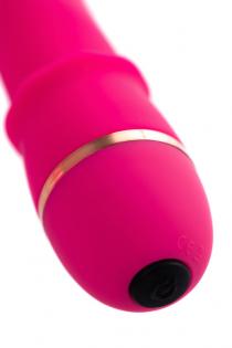 Нереалистичный вибратор A-Toys by TOYFA Marchy, 20 режимов вибрации, силикон, розовый, 16,6 см, Ø 3,