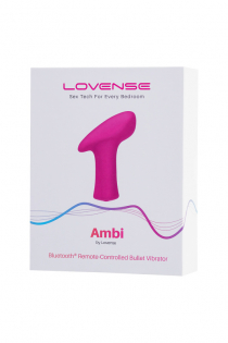 Вибропуля LOVENSE Ambi, силикон, розовая, 8,6 см