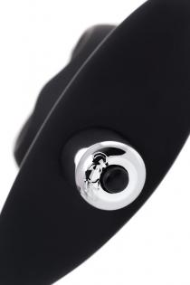 Анальная вибровтулка-расширитель POPO Pleasure by TOYFA Cordis M, силикон, черная, 14 см, Ø 5,5